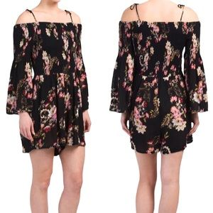 PATRONS OF PEACE | Floral Off The Shoulder Romper